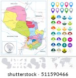 paraguay road map and flat icon ... | Shutterstock .eps vector #511590466