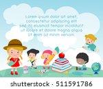 back to school  kids school ...   Shutterstock .eps vector #511591786