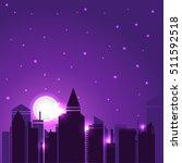 vector night city illustration   Shutterstock .eps vector #511592518