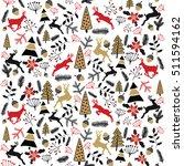 vector background. christmas... | Shutterstock .eps vector #511594162
