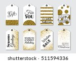 christmas  new year gift tags... | Shutterstock .eps vector #511594336
