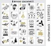 christmas advent calendar with...   Shutterstock .eps vector #511595512