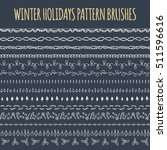set of vector pattern brushes ... | Shutterstock .eps vector #511596616