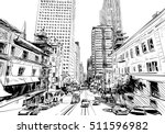 san francisco city hand drawn.... | Shutterstock .eps vector #511596982