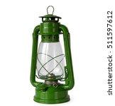 Green Vintage Kerosene Lantern...