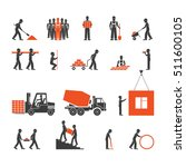 construction industry icons | Shutterstock .eps vector #511600105