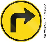 temporary road sign used in the ... | Shutterstock . vector #511600282