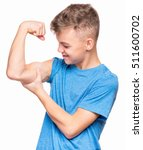 thin caucasian teen boy wearing ... | Shutterstock . vector #511600702