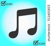 music note icon. flat design...
