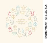 colorful christmas icons... | Shutterstock .eps vector #511602565