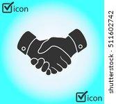 handshake sign icon. successful ... | Shutterstock .eps vector #511602742