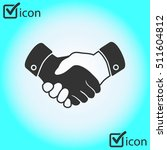handshake sign icon. successful ... | Shutterstock .eps vector #511604812