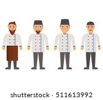 cartoon characters cook.vector... | Shutterstock .eps vector #511613992