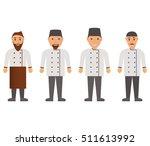 cartoon characters cook.vector...   Shutterstock .eps vector #511613992