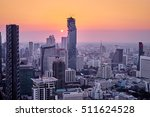 sunset in megapolis. beautiful... | Shutterstock . vector #511624528