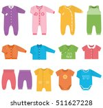 baby clothes. garments for... | Shutterstock .eps vector #511627228