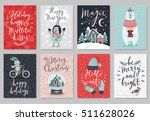 christmas card set  hand drawn... | Shutterstock .eps vector #511628026