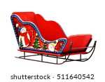 Sleigh Santa Claus Red Toy...