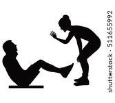 girl trainer holds training... | Shutterstock .eps vector #511655992