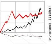 illustration of rising line... | Shutterstock .eps vector #51165664