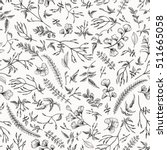 seamless floral pattern in... | Shutterstock .eps vector #511665058