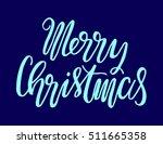 merry christmas. modern... | Shutterstock .eps vector #511665358