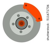 car brake discs system spare... | Shutterstock .eps vector #511671736