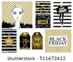 collection with black friday... | Shutterstock .eps vector #511672612