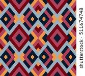 geometric seamless vector... | Shutterstock .eps vector #511674748