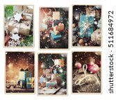 set christmas different cards... | Shutterstock . vector #511684972