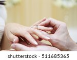 wedding ring exchange | Shutterstock . vector #511685365