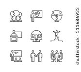 thin line icons set about... | Shutterstock .eps vector #511686922