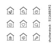 thin line icons set about homes.... | Shutterstock .eps vector #511688392