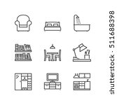 thin line icons set about home. ... | Shutterstock .eps vector #511688398