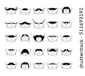 big set of vector hipster... | Shutterstock .eps vector #511693192