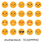 set yellow emotions face. set... | Shutterstock .eps vector #511699942