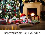 happy little kids in matching...   Shutterstock . vector #511707316