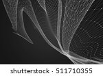 abstract polygonal space low... | Shutterstock . vector #511710355