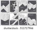 abstract vector brochure cards... | Shutterstock .eps vector #511717966