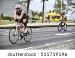 Small photo of Rio de Janeiro, Brazil - november 06, 2016: ndres Gatica Vega, Eduardo (CHL) competes during the bike stage in the Ironman 70.3 Rio de Janeiro