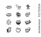 360 degree rotation icons set...