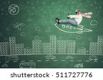 image of little kid riding... | Shutterstock . vector #511727776