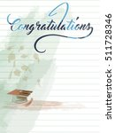congratulations note with... | Shutterstock .eps vector #511728346