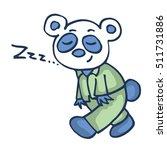 sleepy panda funny cartoon... | Shutterstock .eps vector #511731886