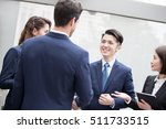 businesspeople meeting in... | Shutterstock . vector #511733515