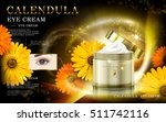 calendula gold and black mask... | Shutterstock .eps vector #511742116