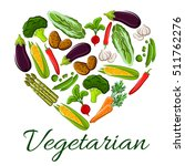 vegetarian symbol of heart... | Shutterstock .eps vector #511762276