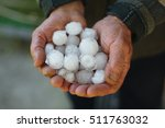 Large Hailstones In The Hands...