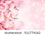 close up sweet light pink on... | Shutterstock . vector #511774162