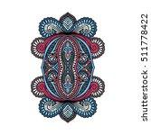 vector ornamental lotus flower  ...   Shutterstock .eps vector #511778422